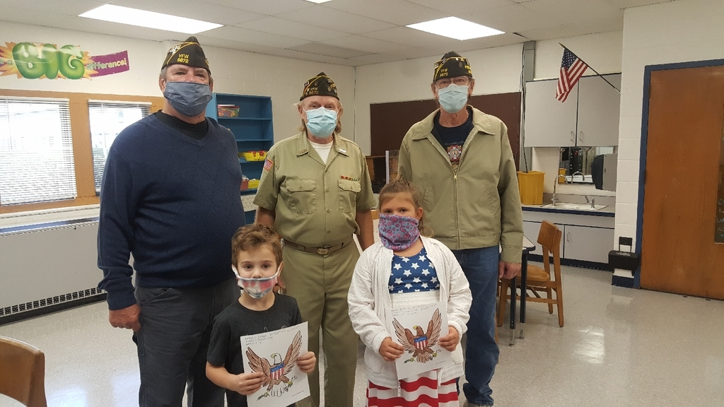 Veteran's Day coloring contest winners