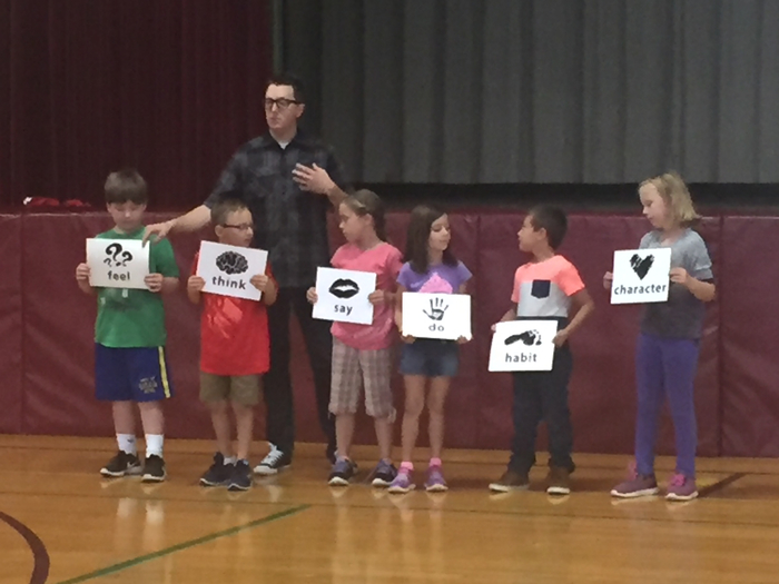 K-2students learn 5steps to build their character