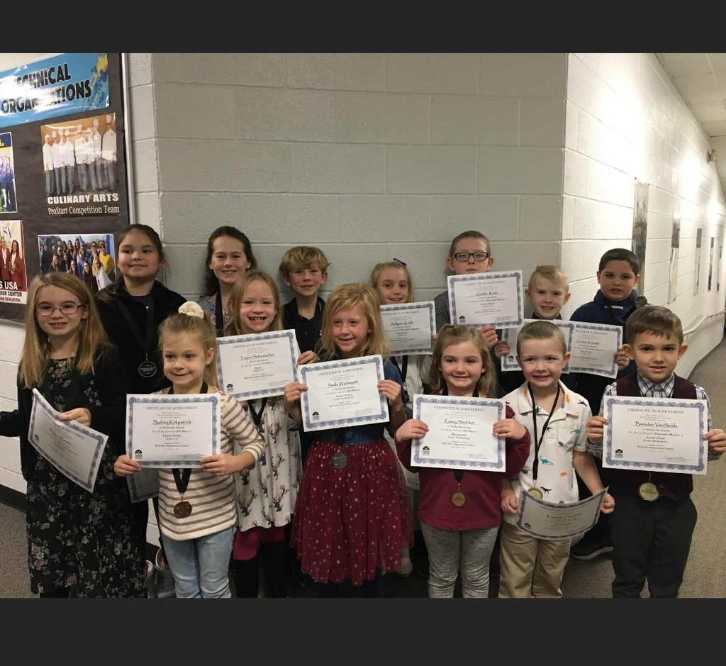 Msg- 4th grade winners at First Impressions contest