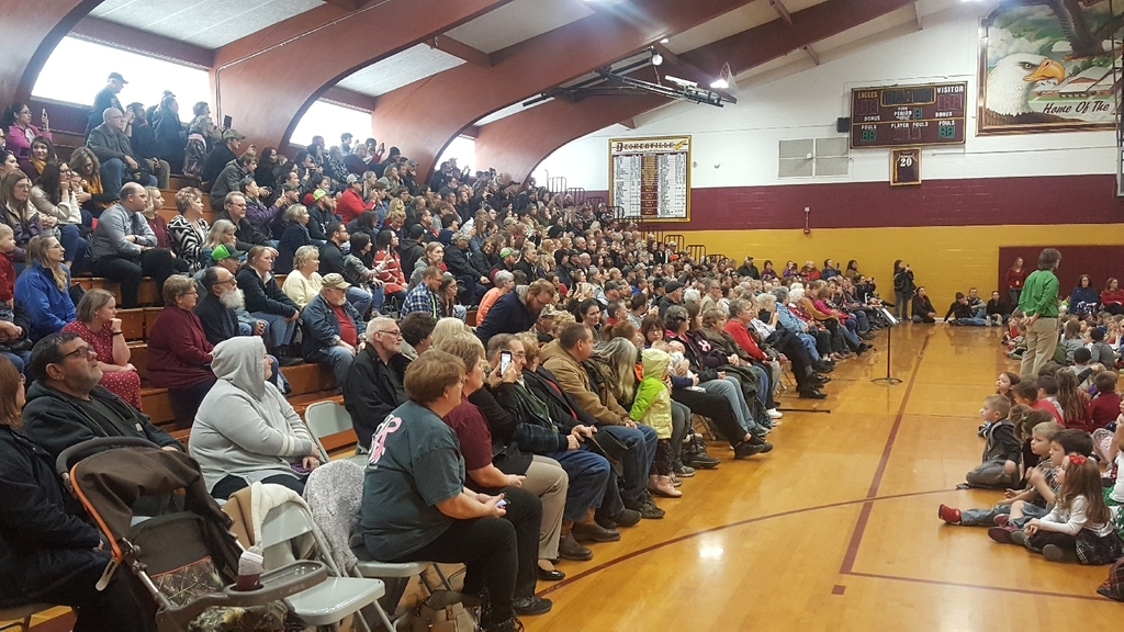 packed gym for the k-4 Winter Vocal Concert